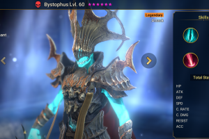 Bystophus, the highest ATK Champion in Raid