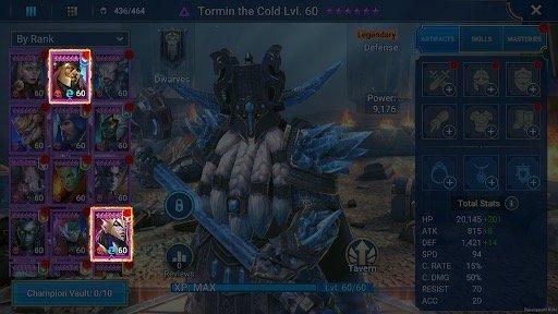 Raid Shadow Legends 1.15 Fusion Icon in Champion Index