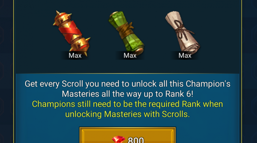 800 Gems for Masteries – Is it worth it?