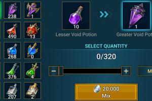 Raid Affinity Potion Keep Drop Rates