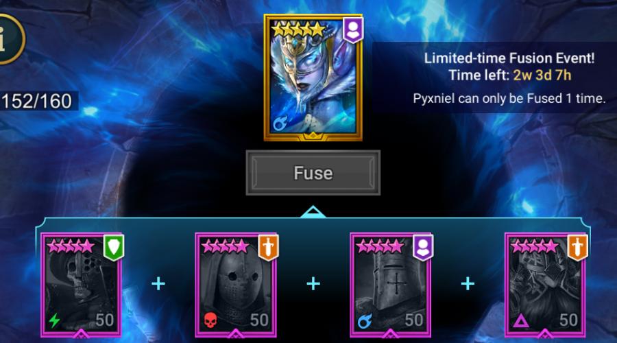 Raid Shadow Legends Pyxniel Fusion